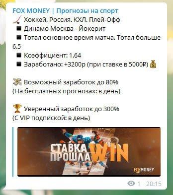 Fox Money телеграмм