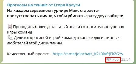 Просмотры Телеграмм Егора Калуги